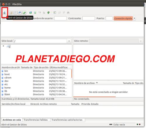 Configurar FileZilla para acceder a Android