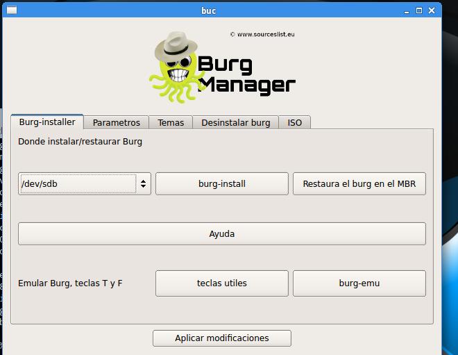 Configuración de boot manager