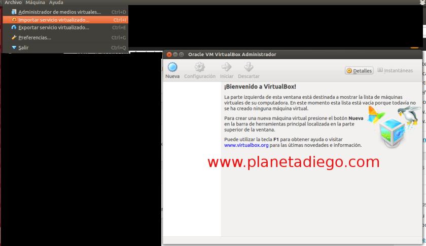 Importar máquina virtual en Virtualbox