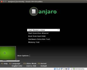 manjaro2 [Corriendo] - Oracle VM VirtualBox_001