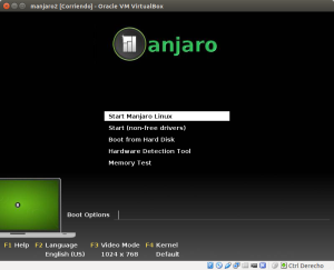 manjaro2 [Corriendo] - Oracle VM VirtualBox_002