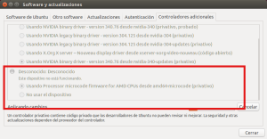Instalador de drivers privativos. Ubuntu 15.04