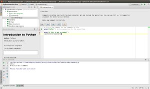 PythonIntroduction - [~-PycharmProjects-PythonIntroduction] - ...-lesson1-task2-comments.py - PyCharm Educational Edition 1.0.1_099