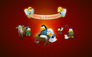 ChristmasTux2007_2560x1600