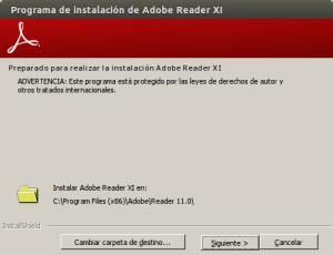 Programa de instalación de Adobe Reader XI_041