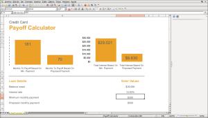 Plantilla de gráfico dinámica creada con Microsoft Excel y abierta con FreeOffice PlanMaker. Este último agregó automáticamente una columna con la escala.