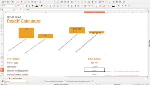 Plantilla de gráfico dinámico creada por Microsoft Excel y abierta con LibreOffice Calc. Las modificaciones en el gráfico las realizó el programa automáticamente