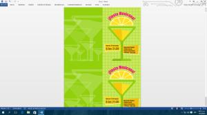 Plantilla de cartel creada y visualizada en Microsoft Word