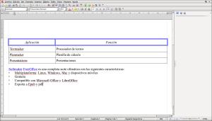 Tablas, viñetas y formato básico de texto en TextMaker