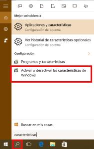 Selección ce  el activador/desactivador de aplicaciones en Windows 10 para poder instalar sistemas operativos de 64 bits en Windows 10