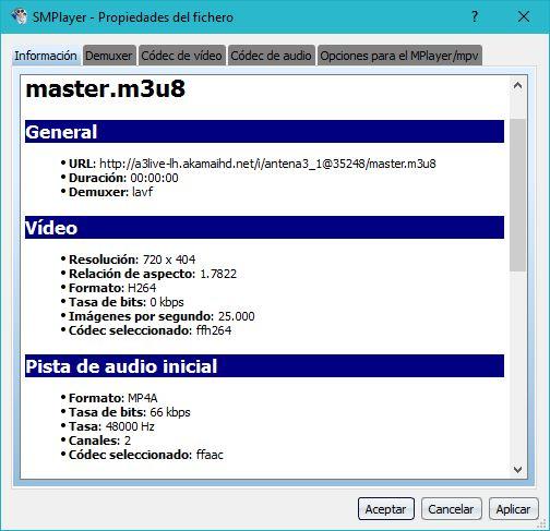 Captura de SMPLAYER en Windows