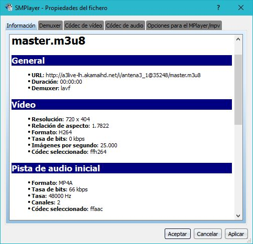 Captura de SMPLAYER en Windows