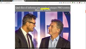 Anuncio de la noticia del portal Perfil.com