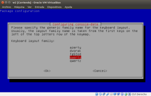 Seleccionamos la distribución de teclado Qwerty