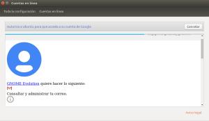 Configurador de cuentas de Ubuntu 17.10 Zesty Zapus