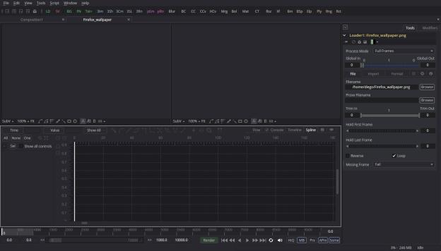 Blackmagick Fusion. Editor de efectos y animación