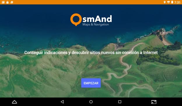 Aplicación para la navegación de mapas offline