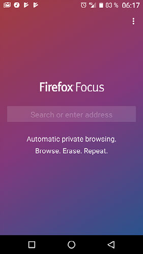 Firefox Focus. Navegación privada ahora paraAndroid