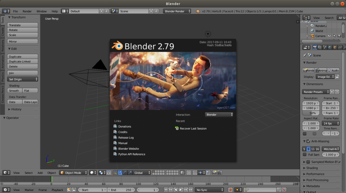 Disponible para descarga Blender2.79