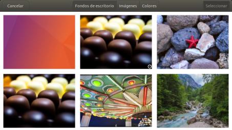 Selección del fondo de escritorio y pantalla de bloqueo en Ubuntu 17.10 Artful Aadvark