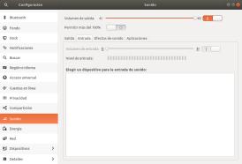 Gestión de dispositivos de entrada de audio en Ubuntu 17.10 Artful Aadvark