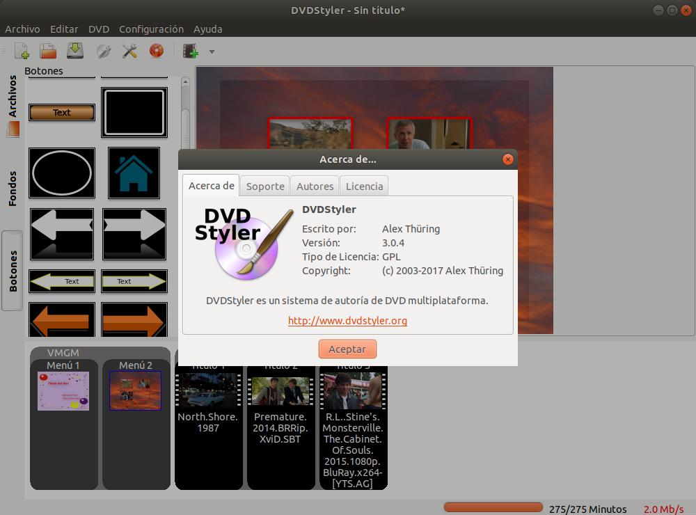 Dvd Styler 3.0.4 herramienta de creación de dvd para Linux,Windows yMac.