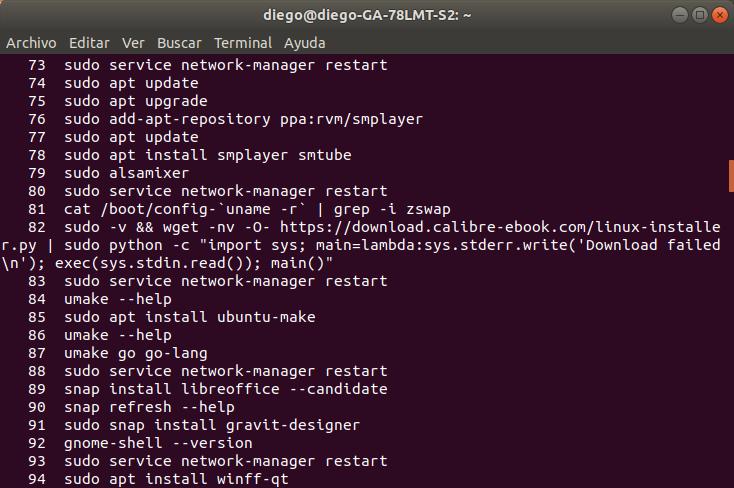 Cómo eliminar el registro de comandos tipeados en la terminal deLinux.