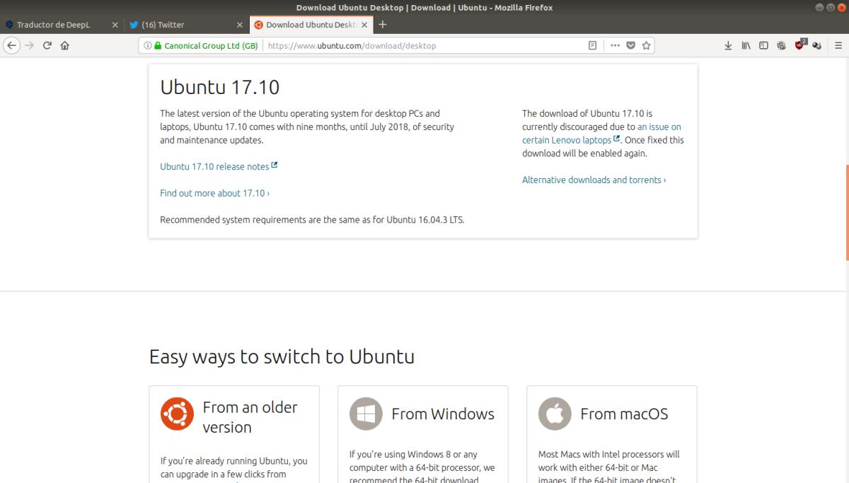 Canonical y la comunidad Ubuntu  suspenden las descargas de Ubuntu, Kubuntu hasta que esté solucionado el problema con Lenovo y otrosportátiles