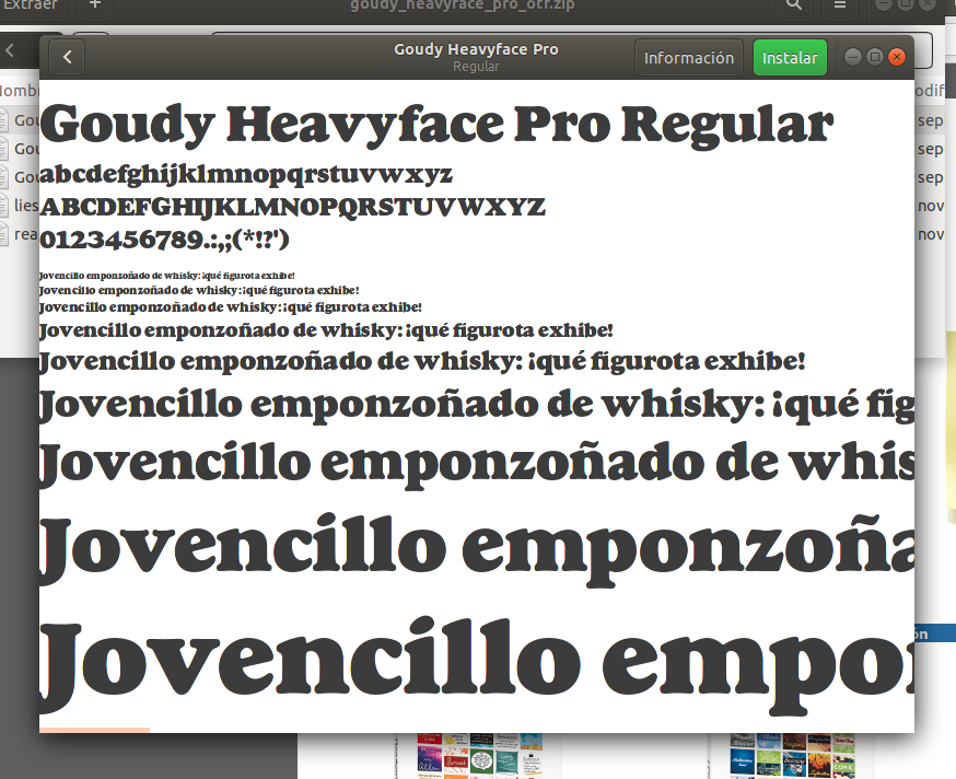 Goudy Heavyface Pro. tipografía gratuita para Linux, Windows y Mac (solo enero2018)