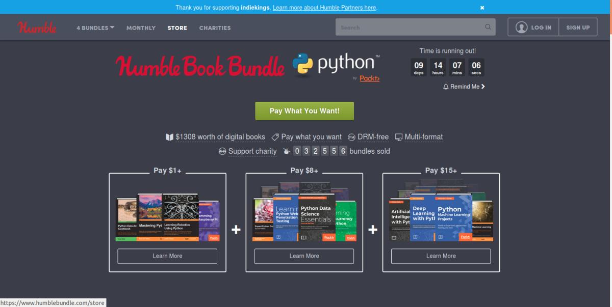 Compra libros sobre Python, paga lo que quieras y colabora con la Electronic Frontier Foundation (hasta15/1/2018)