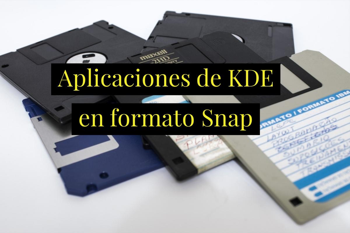 Aumenta la cantidad de aplicaciones de KDE disponibles en formatoSnap