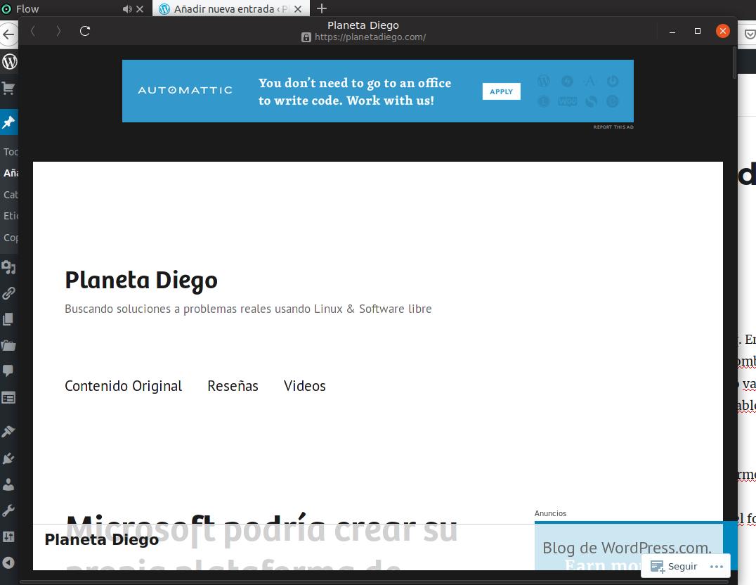 Cómo usar las web app de Gnome Web en Ubuntu (instalado comoSnap)